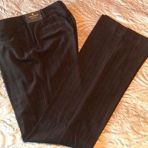 New Worthington Brown Stripe Curvy Fit Pants SZ 8T